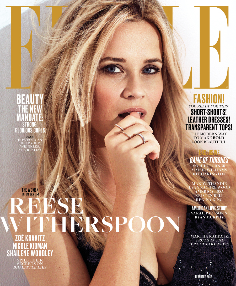 FEB ELLE Covers Reese Witherspoon  bitchy | Shailene Woodley 'knew' Trump would win when Bernie misplaced the CA major FEB ELLE Covers Reese Witherspoon