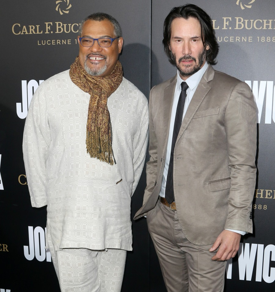 Keanu Reeves and Laurence Fishburne at John Wick: Chapter2 Premiere in Hollywood  bitchy | Keanu Reeves on the 'John Wick 2′ premiere: ageless or fastidiously worn? FFN RIJ JOHN WICK 013017 52299905