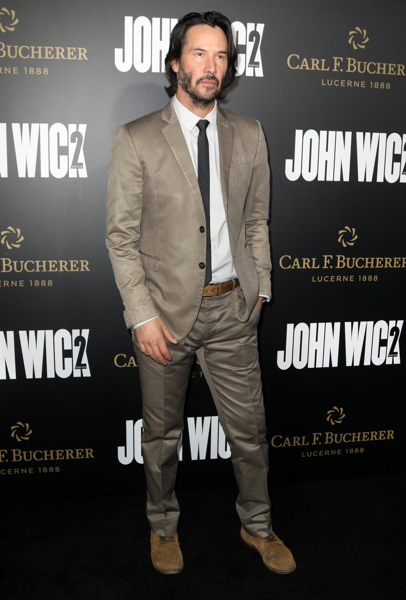 Keanu Reeves and Laurence Fishburne at John Wick: Chapter2 Premiere in Hollywood  bitchy | Keanu Reeves on the 'John Wick 2′ premiere: ageless or fastidiously worn? FFN RIJ JOHN WICK 013017 52299907