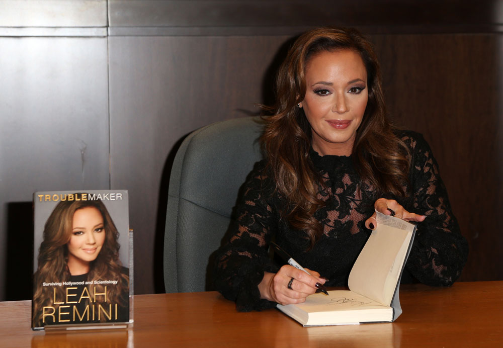 """Leah Remini Signs Copies Of Her New Book """"Troublemaker: Surviving Hollywood and Scientology""""  bitchy 
