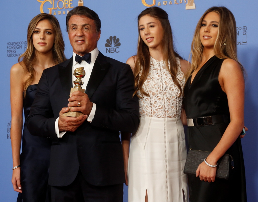 wenn23343787  bitchy | Sylvester Stallone educated as a hairdresser & he's coloured his daughters' hair wenn23343787