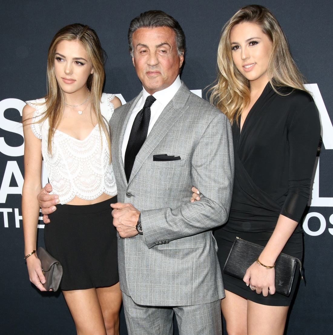 wenn23479905  bitchy | Sylvester Stallone educated as a hairdresser & he's coloured his daughters' hair wenn23479905