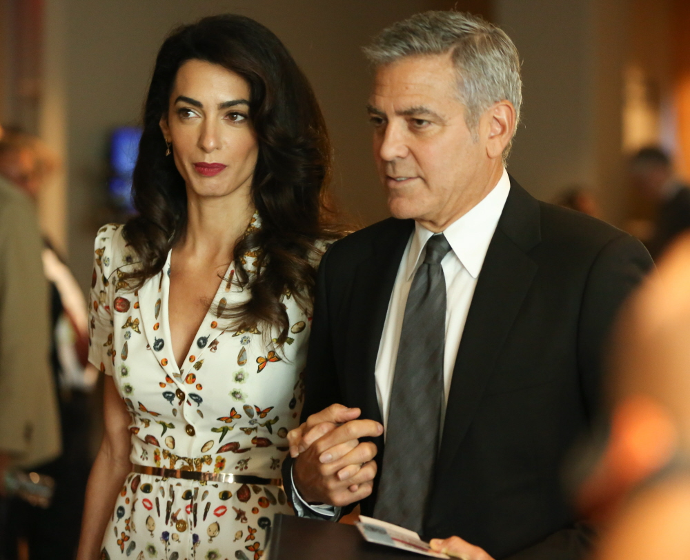 """wenn29562852  bitchy   """"Did Amal Clooney look pregnant whereas being honored at Davos?"""" hyperlinks wenn29562852"""