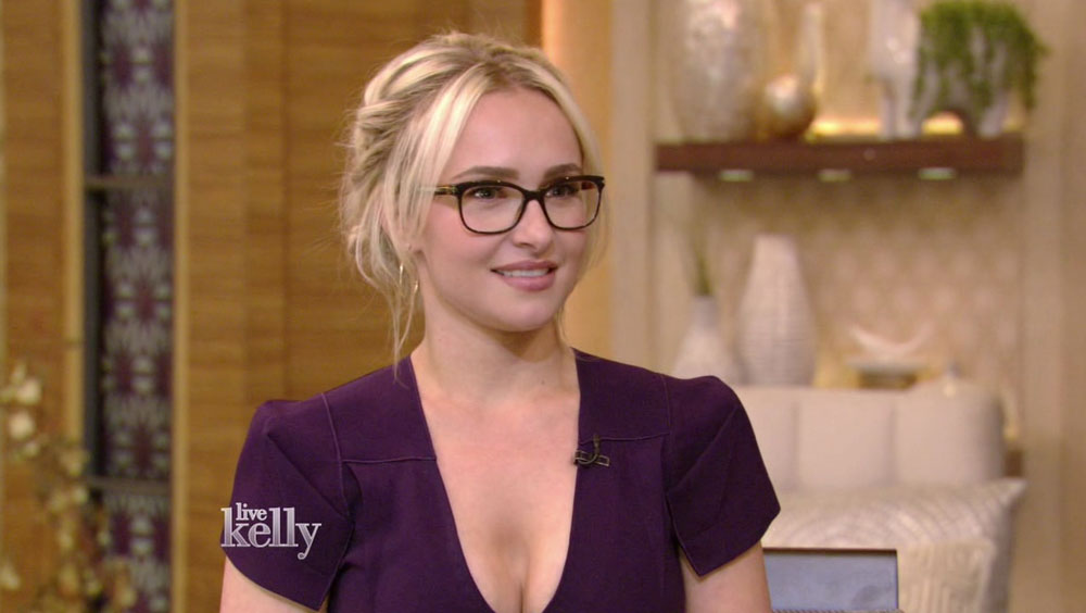 Hayden Panettiere during an appearance on ABC's 'Live with Kelly.'  bitchy | Hayden Panettiere sleeps together with her TV on as a result of she's afraid of the darkish wenn30691618 edited 1