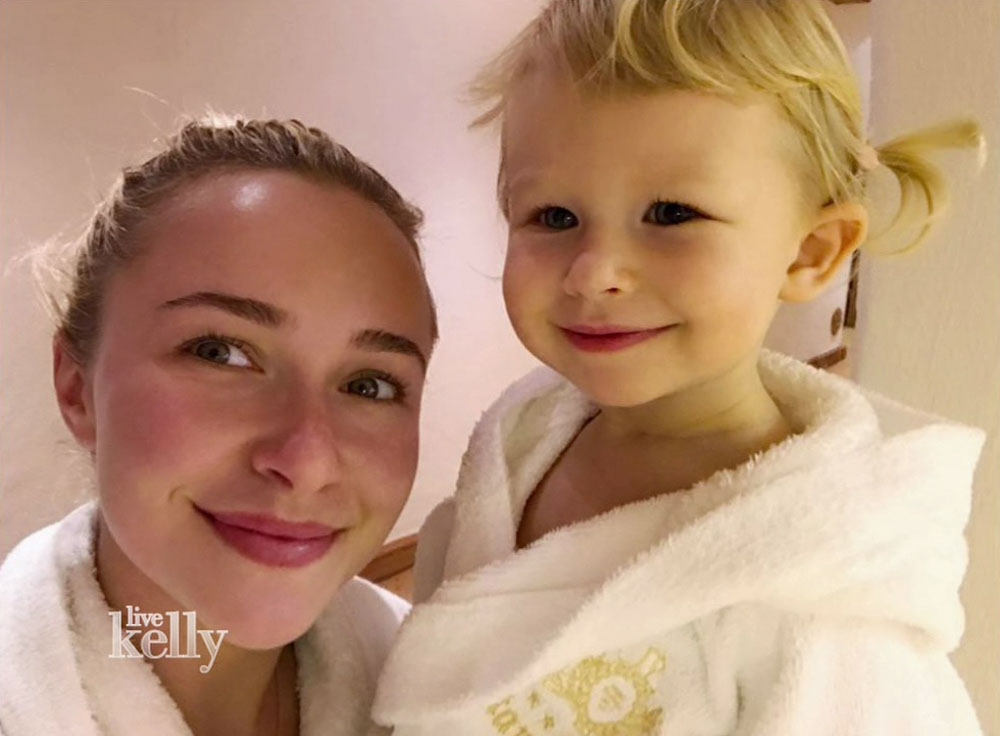 Hayden Panettiere during an appearance on ABC's 'Live with Kelly.'  bitchy | Hayden Panettiere sleeps together with her TV on as a result of she's afraid of the darkish wenn30691621 edited 1