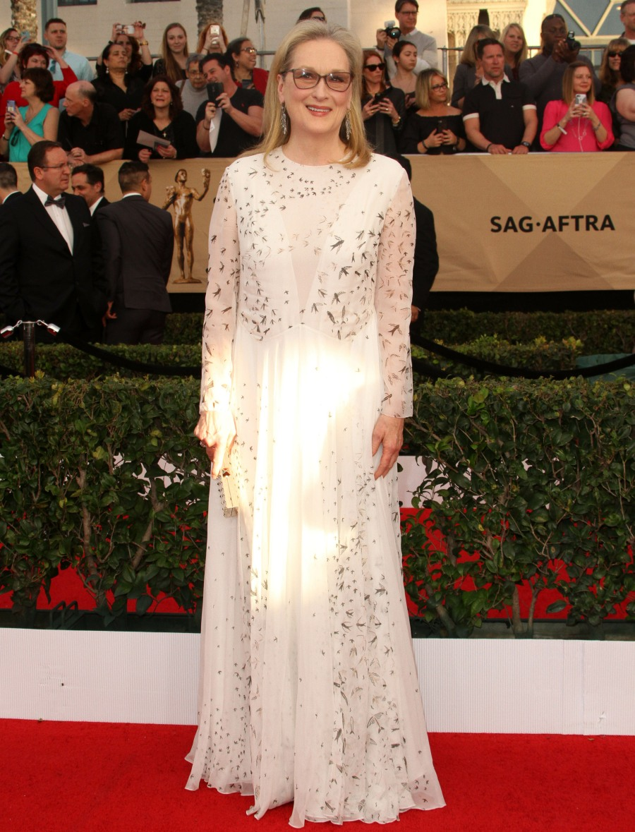 23rd Screen Actors Guild Awards (SAG)  bitchy | Michelle Williams in striped Louis Vuitton on the SAGs: fancy circus tent? wenn30820203