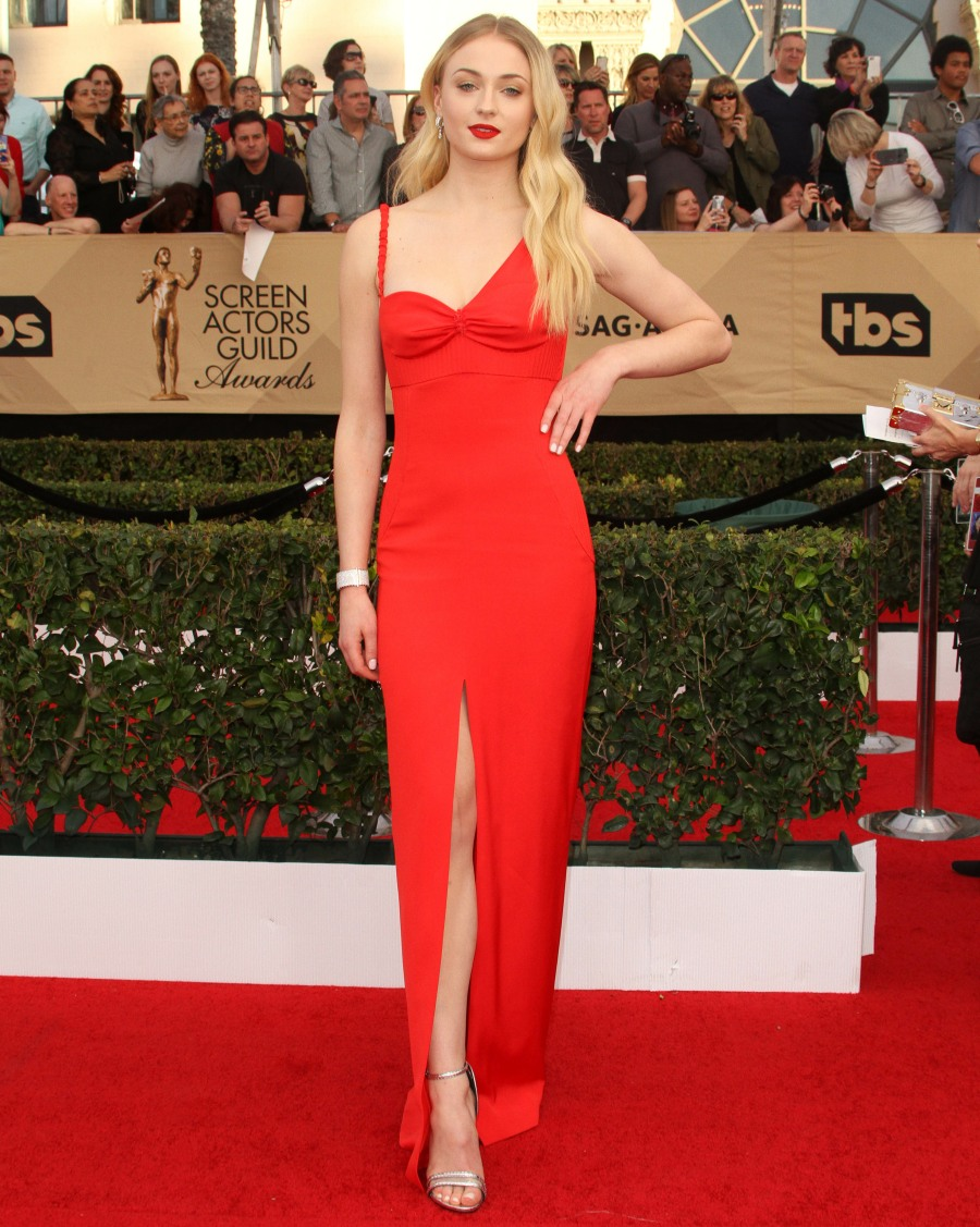 23rd Screen Actors Guild Awards (SAG)  bitchy | Michelle Williams in striped Louis Vuitton on the SAGs: fancy circus tent? wenn30820351