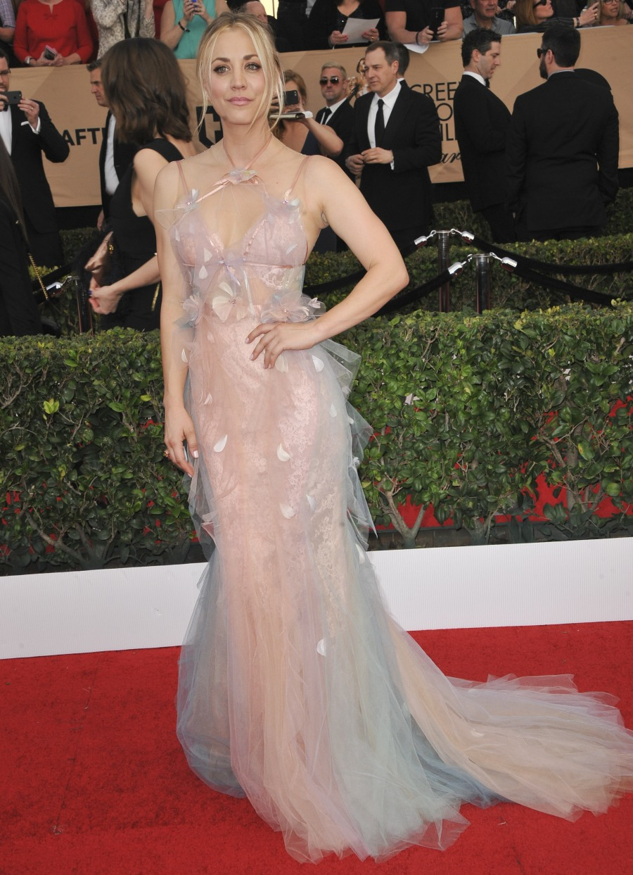 23rd Screen Actors Guild Awards (SAG)  bitchy | Kaley Cuoco in tulle Marchesa on the SAGs: twee, horrible & tragic? wenn30820900