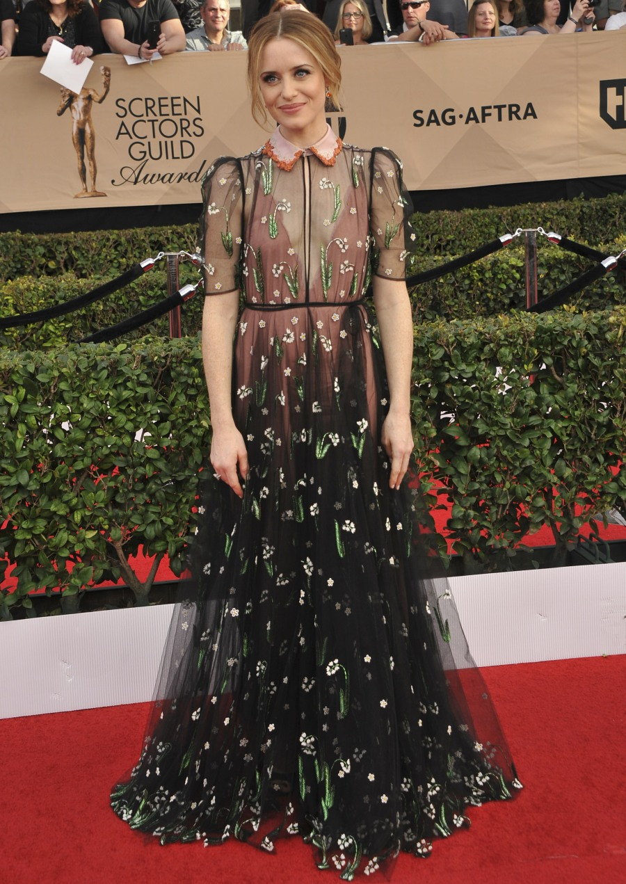 The SAG Awards 2017 Arrivals  bitchy | Michelle Williams in striped Louis Vuitton on the SAGs: fancy circus tent? wenn30822003
