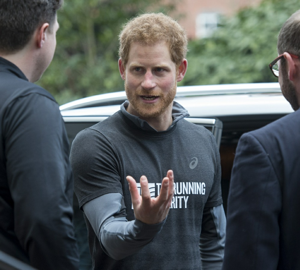 Prince Harry meeting with staff of The Running Charity, which is the UK's first running-orientated programme for homeless and vulnerable young people, in Willesden in north west London.  bitchy | Prince Harry thinks Emperor Child Fists is 'a critical risk to human rights' 161322PCN PrinceHarryPHT013