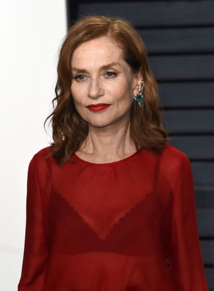 Cele|bitchy | Isabelle Huppert in Armani at the VF Oscar Party: better party dress?