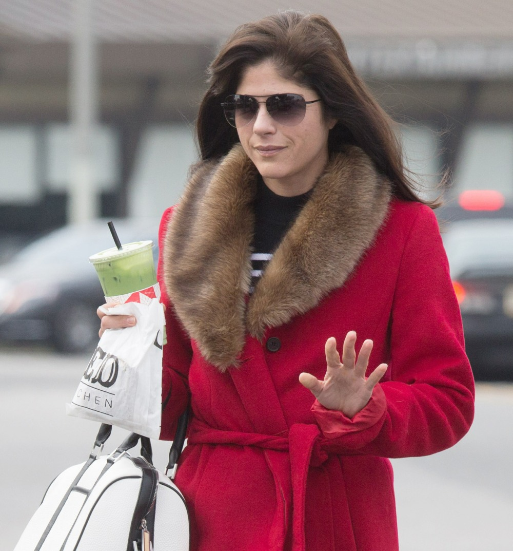Selma Blair Grabs Coffee In Los Angeles  bitchy | Selma Blair drove off with a fuel pump nozzle nonetheless hooked up, it value her $500 FFN Blair Selma FF2 020217 52302336