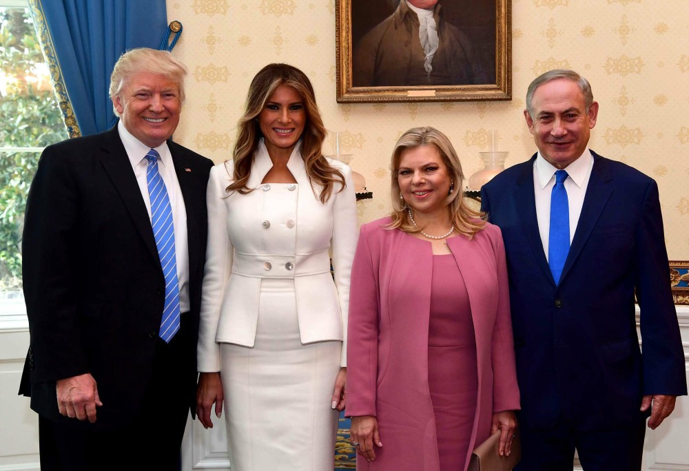Donald Trump Meets With Prime Minister Benjamin Netanyahu At The White House