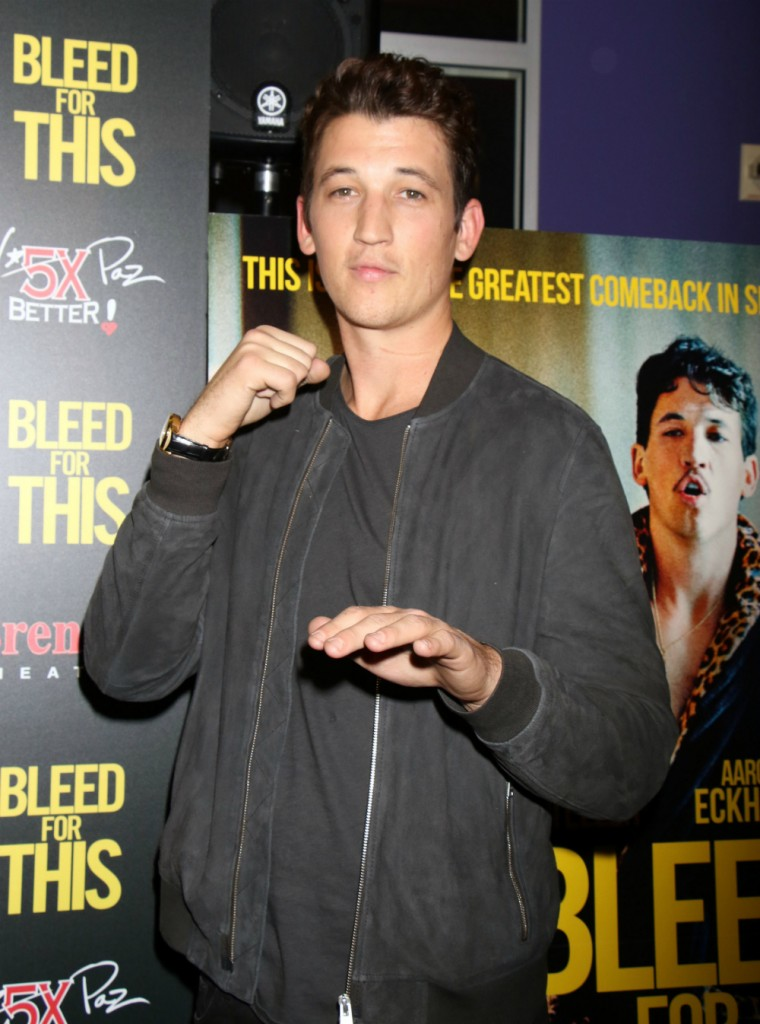 FFN_RIA_BLEED_FOR_THIS_PREM_11172016_52235402  bitchy | Miles Teller denies report that he was too costly for La La Land FFN RIA BLEED FOR THIS PREM 11172016 52235402