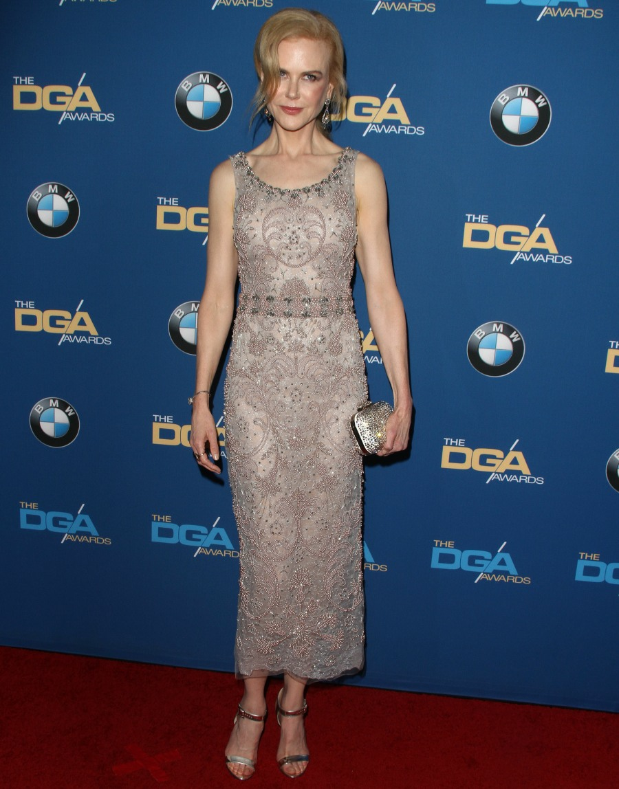 Nicole Kidman at The 69th Annual Directors Guild Of America Awards in LA  bitchy | Nicole Kidman in beaded Marchesa on the DGA Awards: boring or lovely? FFN RIJ DGA2017 020417 52304754