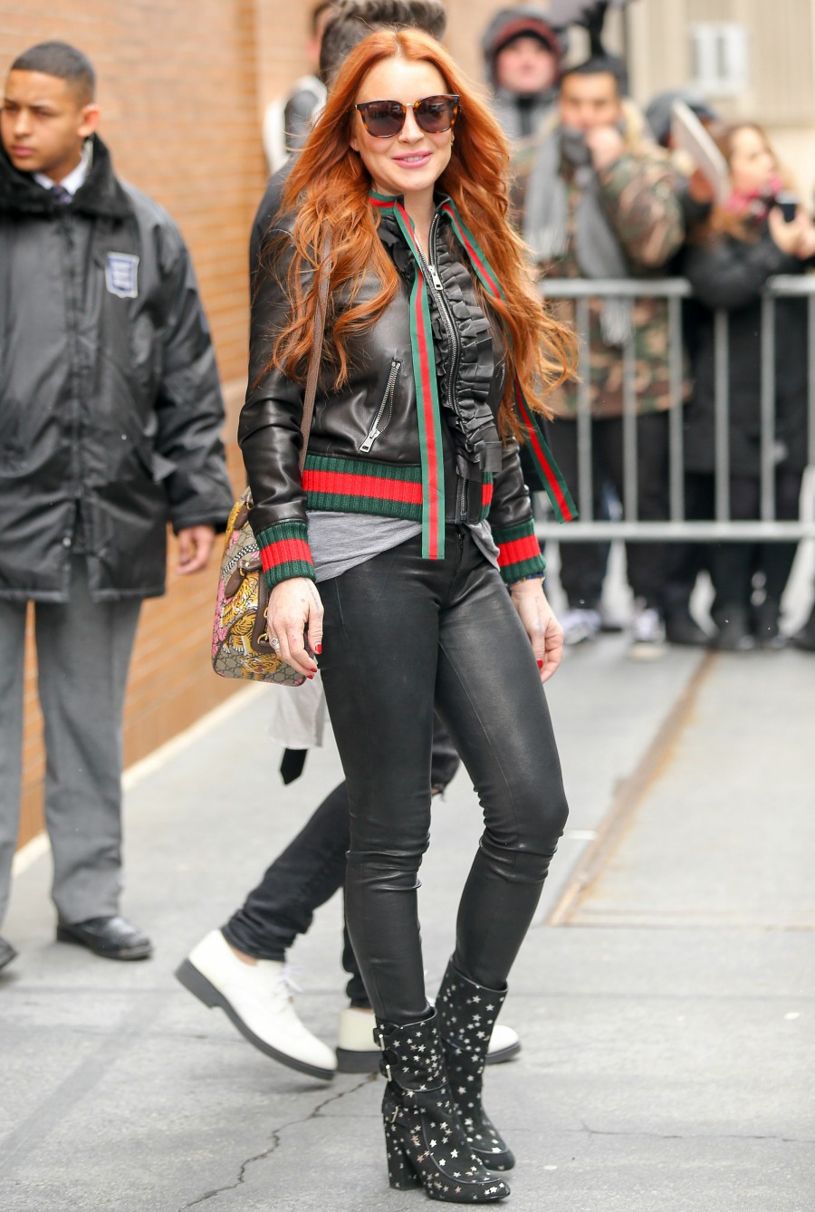 Lindsay Lohan Leaves The Set Of 'The View'
