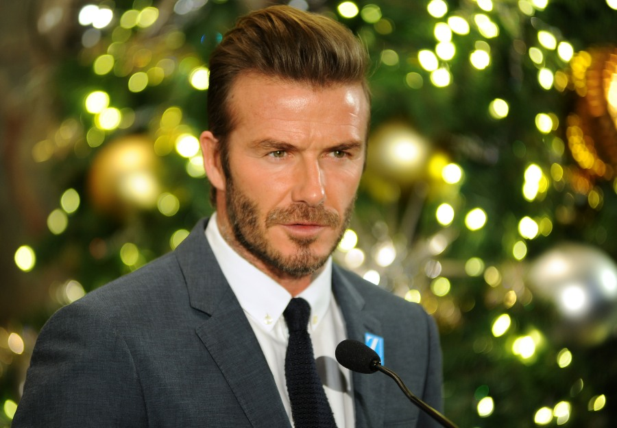 David Beckham at The Empire State Building  bitchy | David Beckham's 'hacked emails' reveal he's obsessive about getting a knighthood wenn30602680