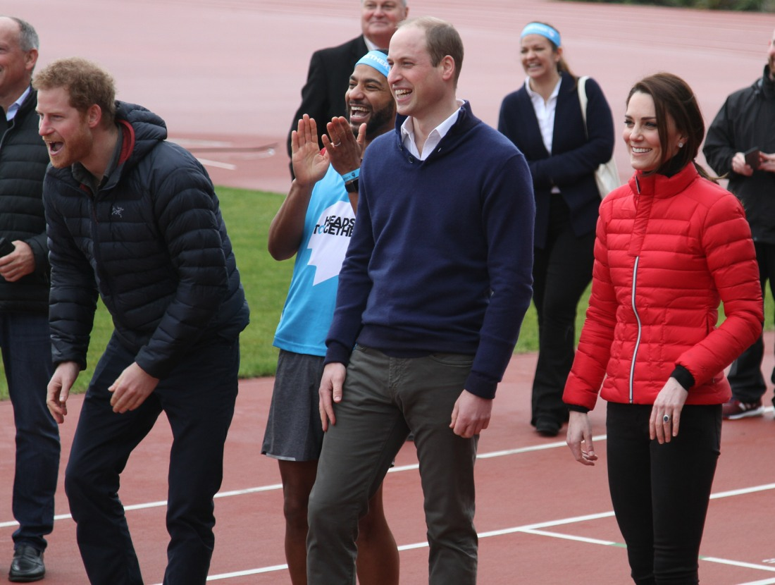 2017 Virgin Money London Marathon for Heads Together Training Day  bitchy | Duchess Kate wore skinny denims & a £280 ski jacket to dash in London wenn30856724