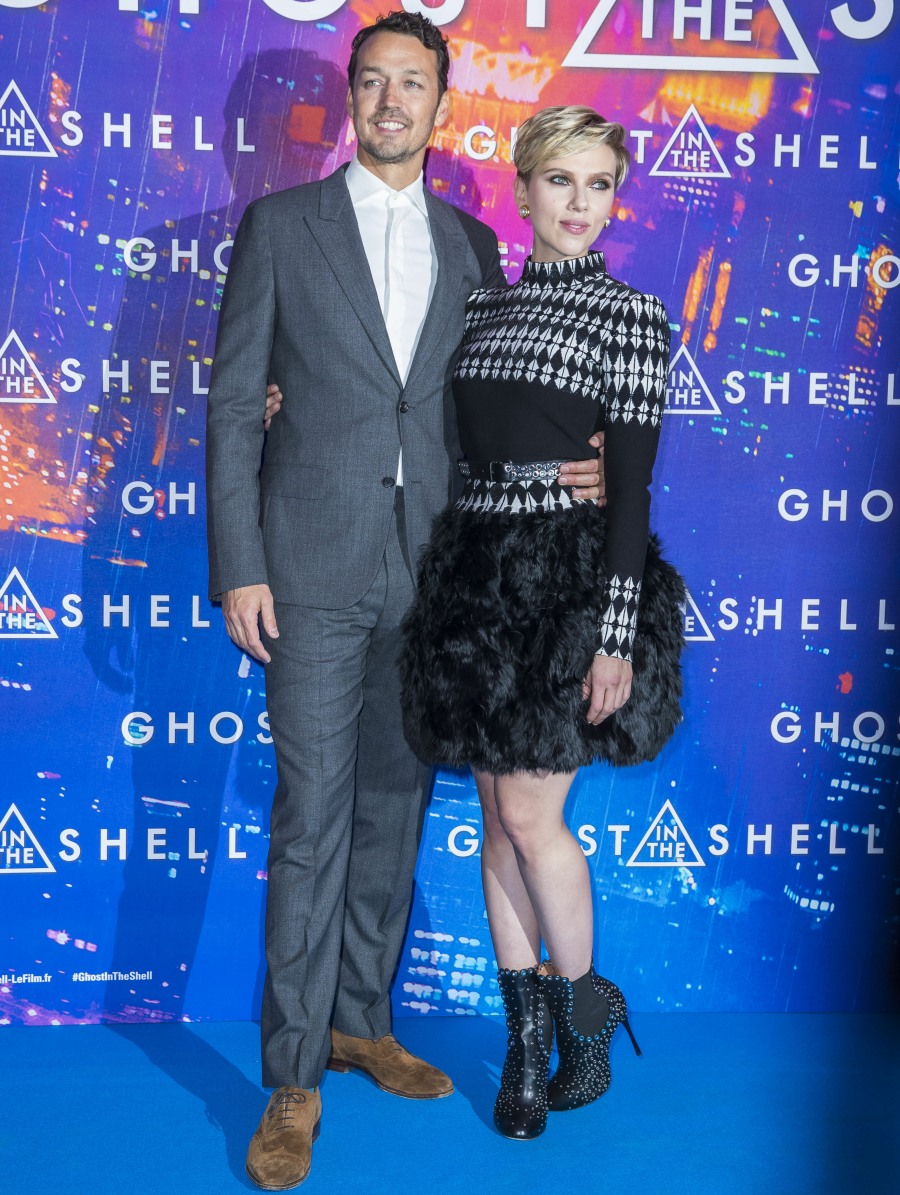 Резултат с изображение за scarlett johansson Ghost in the Shell' Premiere in Paris
