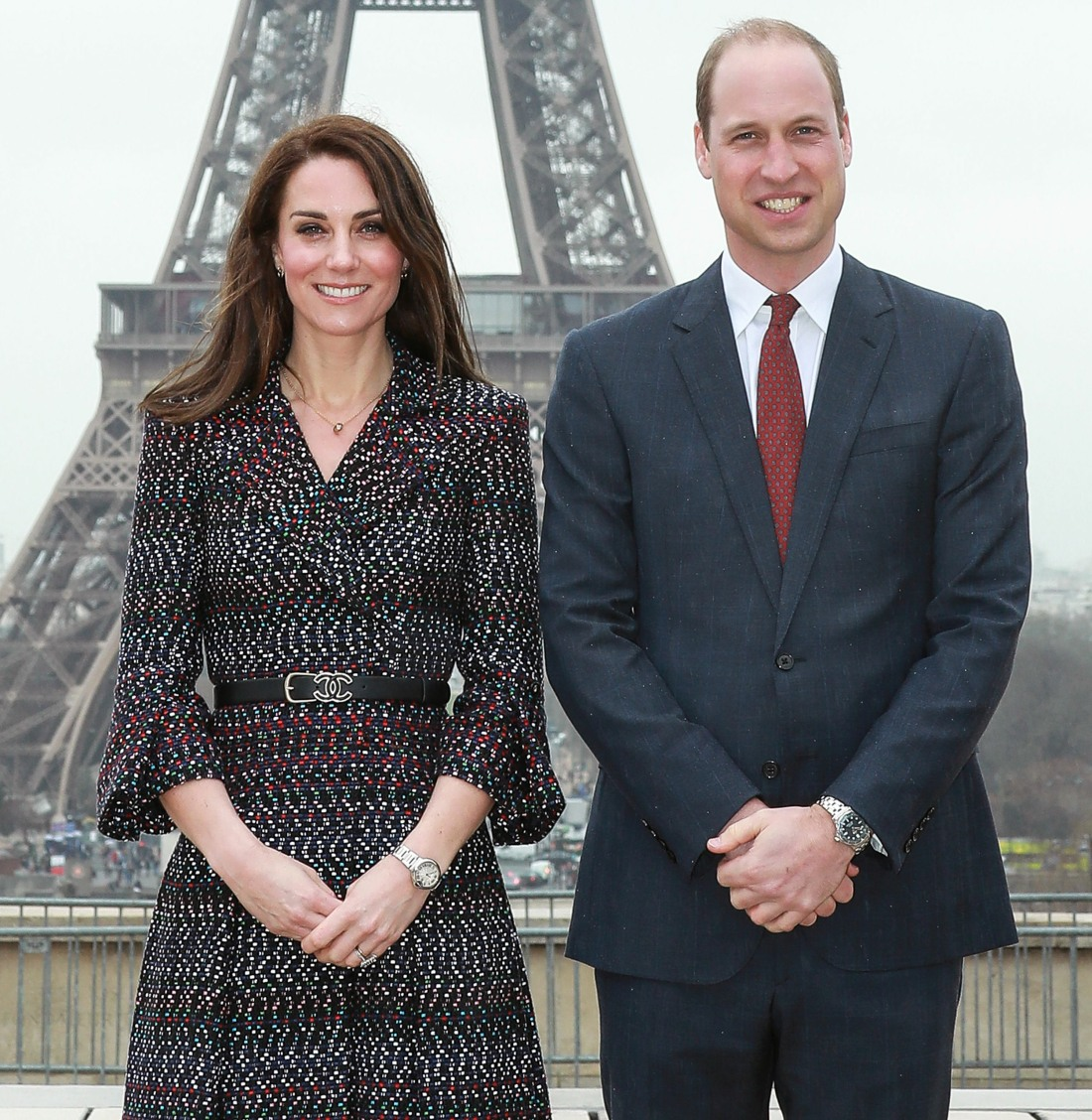 Prince William & Kate Middleton In Paris