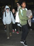 Angelina Jolie Arrives At LAX With All Of Her Kids