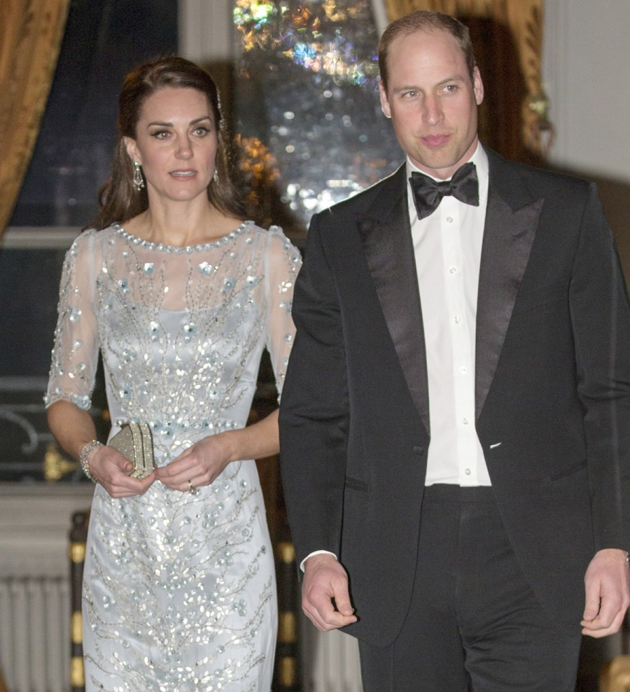 The Duke and Duchess of Cambridge attend a dinner during a state visit to Paris