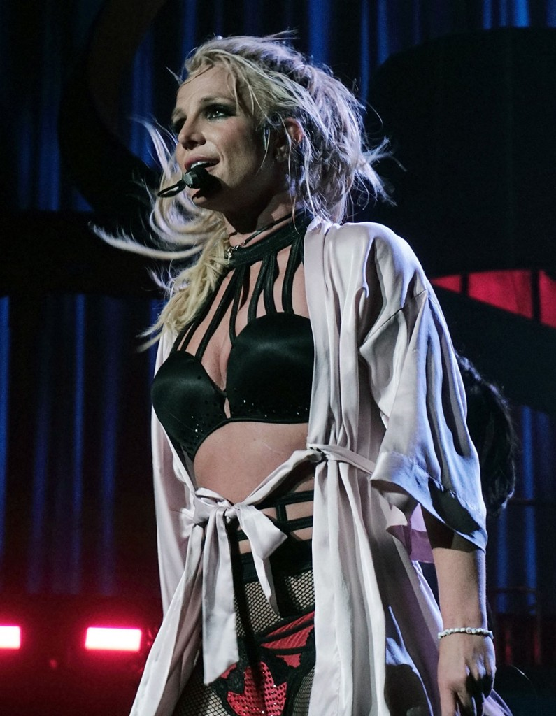 Britney Spears Performs On Stage At The Hollywood Hotel In Vegas