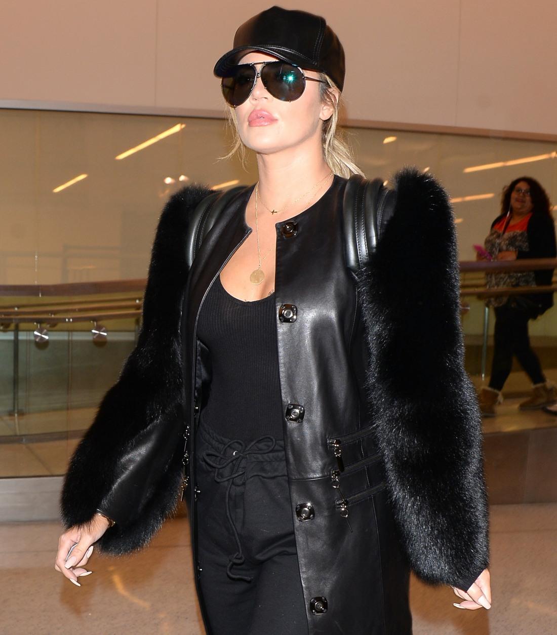Khloe Kardashian Departs From LAX