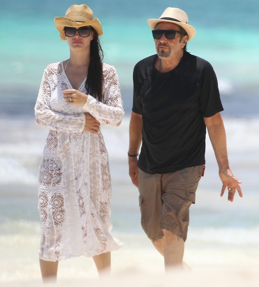 pacino frolicked beach with year girlfriend links