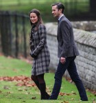 The Duke and Duchess of Cambridge arrive at St Marks Englefield with Prince George and Princess Charlotte