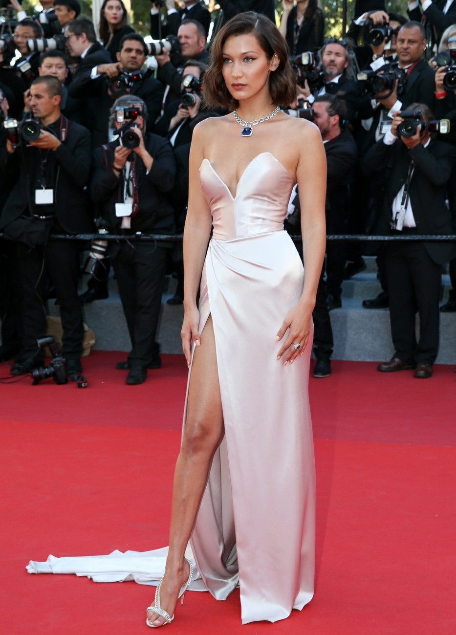 Bella Hadid at the 'Ismael's Ghosts' screening and Opening Gala during the 70th Annual Cannes Film Festival