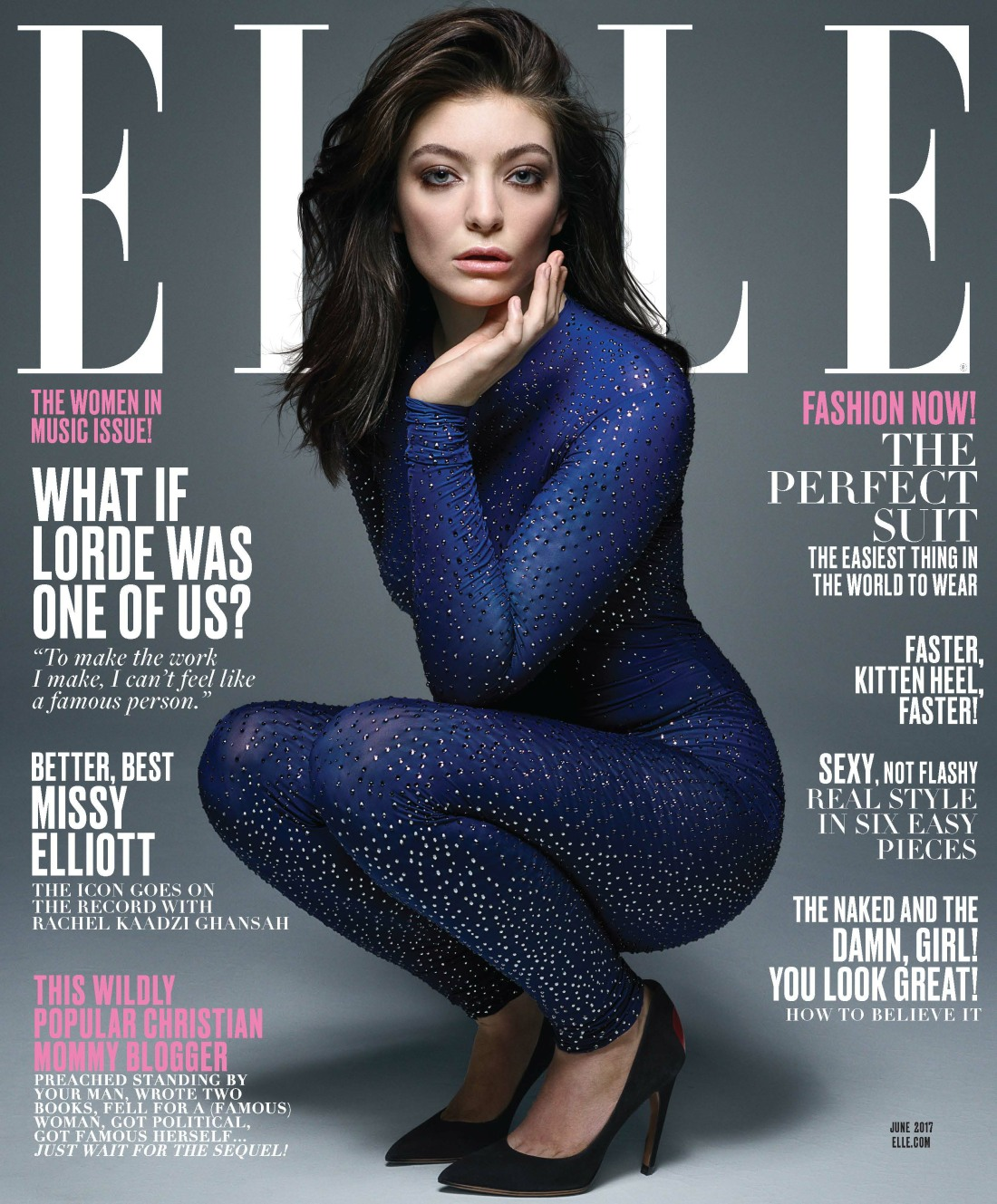 Lorde covers Elle Mag, looks like a 40-year-old goth Real Housewife