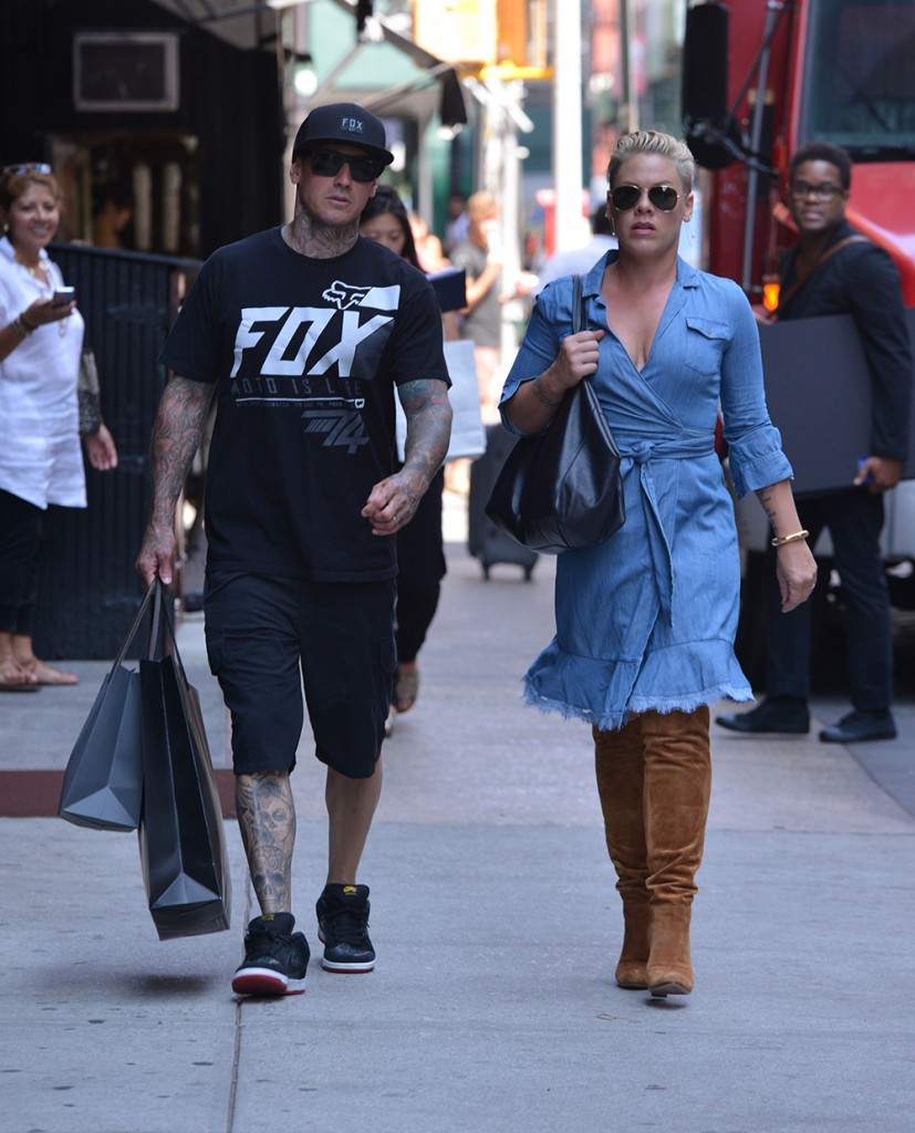 Pink and Carey Hart out and about in SoHo