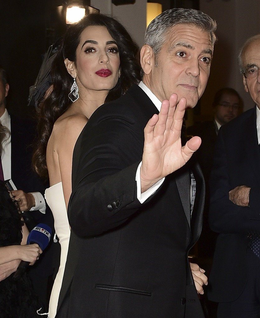 George Clooney, Amal Clooney at the Cesar Awards in Paris