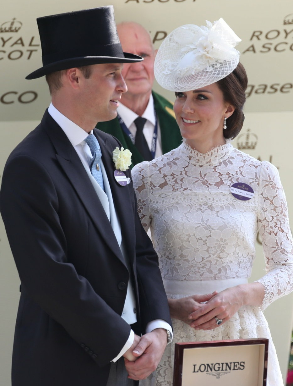 Catherine, Duchess of Cambridge, Prince William, Duke of Cambridge on the opening day of Royal Ascot