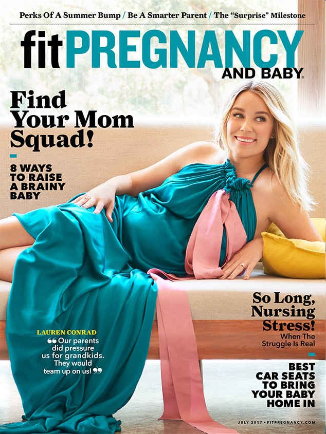Lauren Conrad: 'I'm not worried about the pain that comes with giving birth'