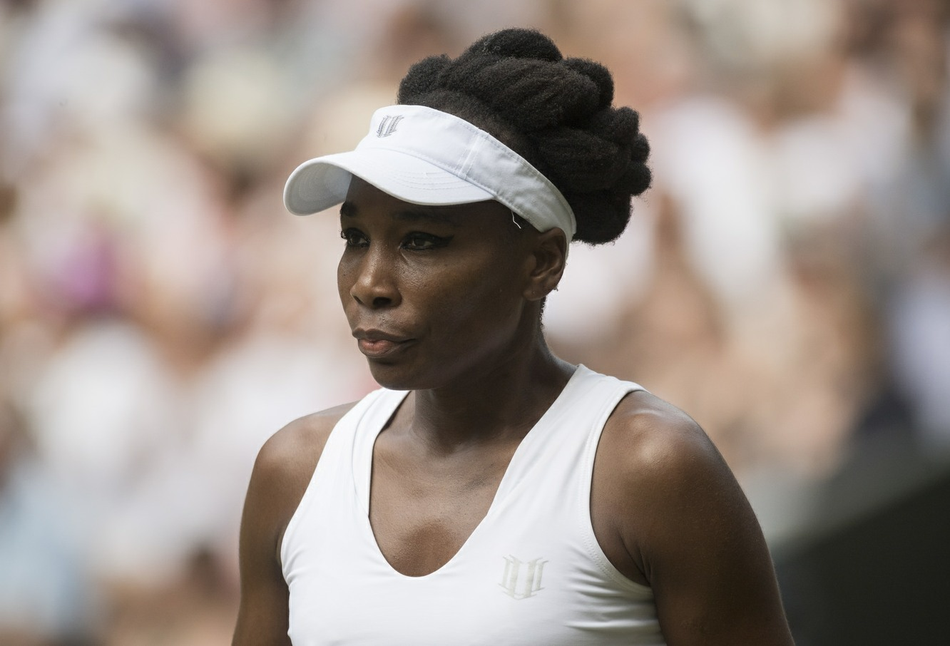Venus Williams during the Wimbledon Tennis Championships in London