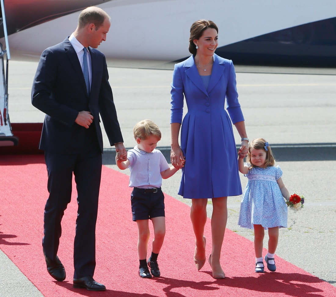 The Duke and Duchess of Cambridge arrive at Berlin Tegel airport
