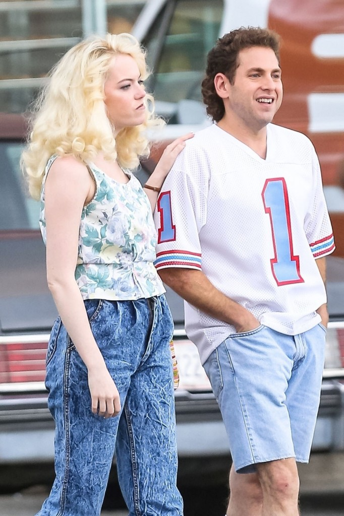 Emma Stone and Jonah Hill take it back to the 80's on the set of 'Maniac'