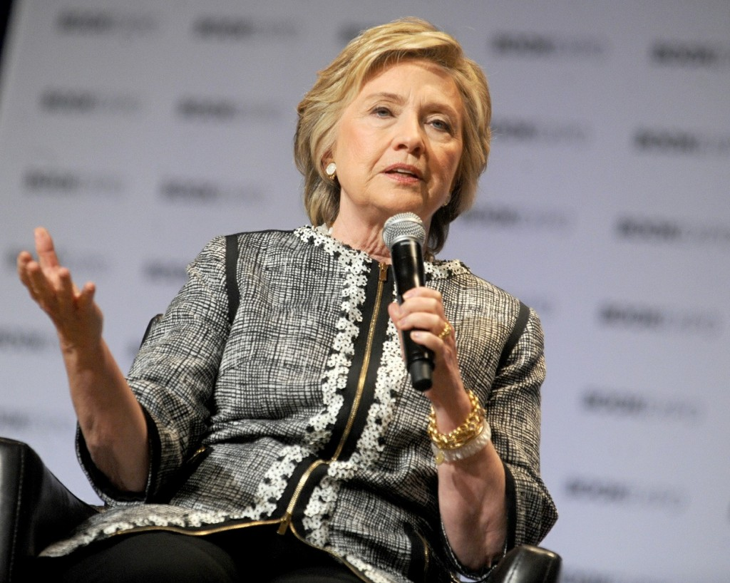 Hillary Clinton makes a public appearance for 'An Evening with Hillary Rodham Clinton' at BookExpo in New York City