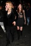 Courtney Love and Frances Bean Cobain leave the Saint Laurent show in Paris