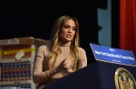 Jennifer Lopez at a benefit to help victims of Hurricane Maria in Puerto Rico at the Javits Center in Manhattan