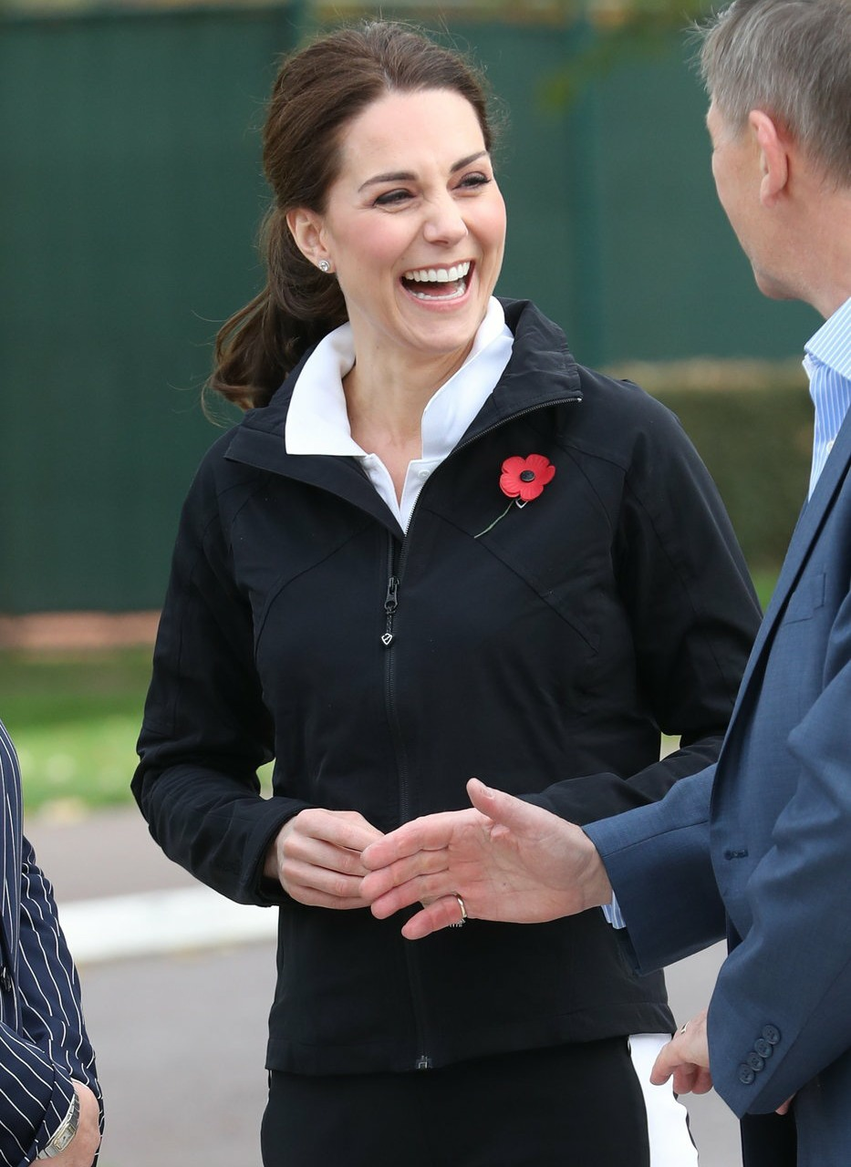 Catherine, Duchess of Cambridge, visits the Lawn Tennis Association at the National Tennis Centre in London