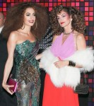 Amal Clooney and Cindy Crawford arrive at Casamigos Halloween party
