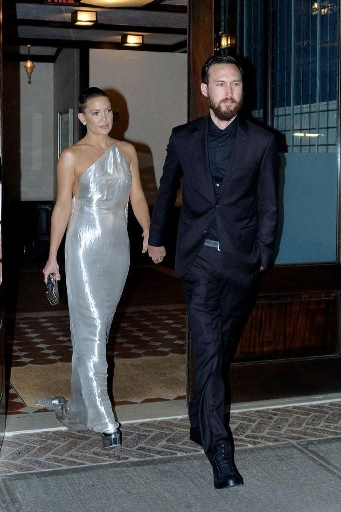 Kate Hudson and boyfriend Danny Fujikawa leaving her hotel