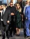 Alex Rodriguez and Jennifer Lopez arrive for Alex's appearance on 'Jimmy Kimmel Live!'