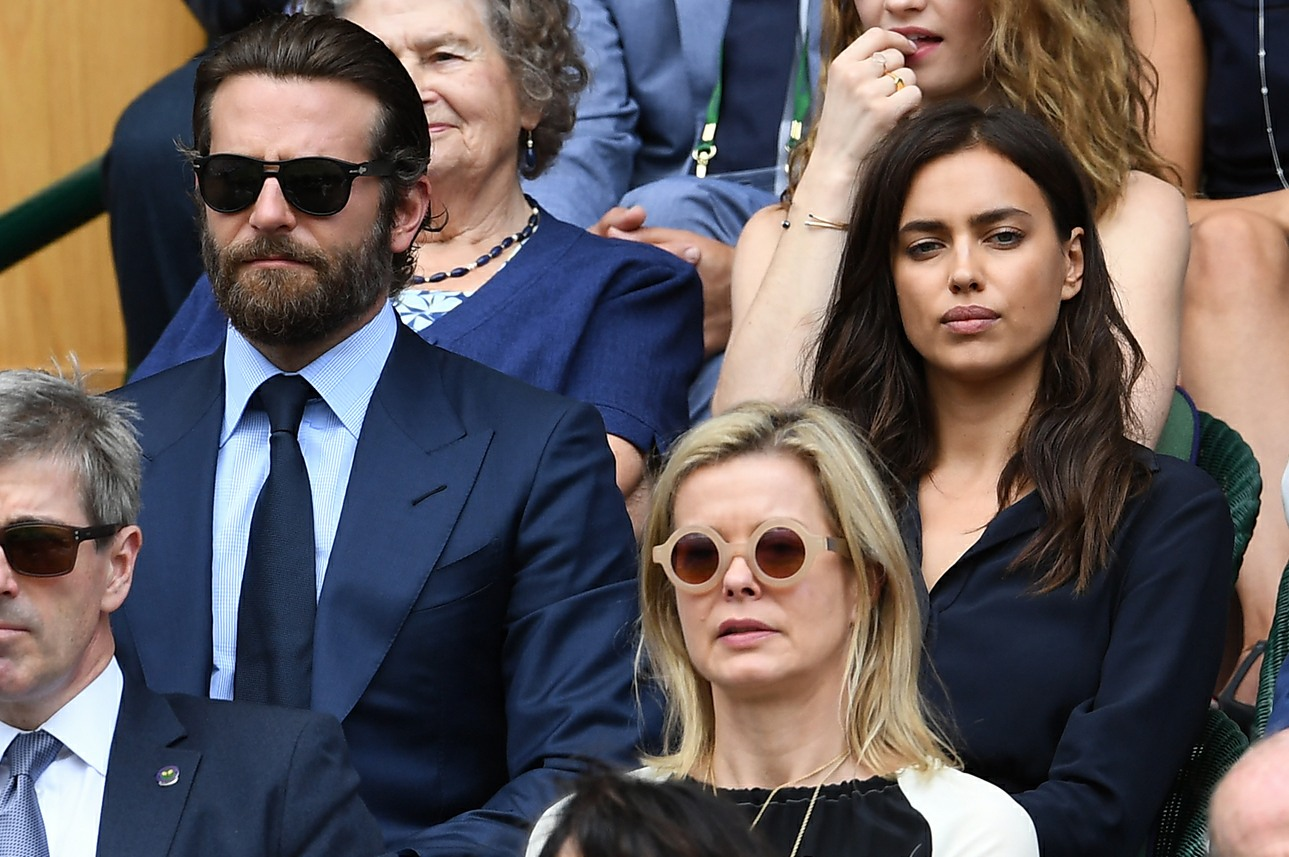 Bradley Cooper, Irina Shayk in the crowd to watch The Men's Final on Centre Court