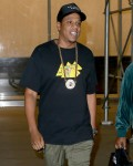 Jay-Z is all smiles while leaving his office in NYC