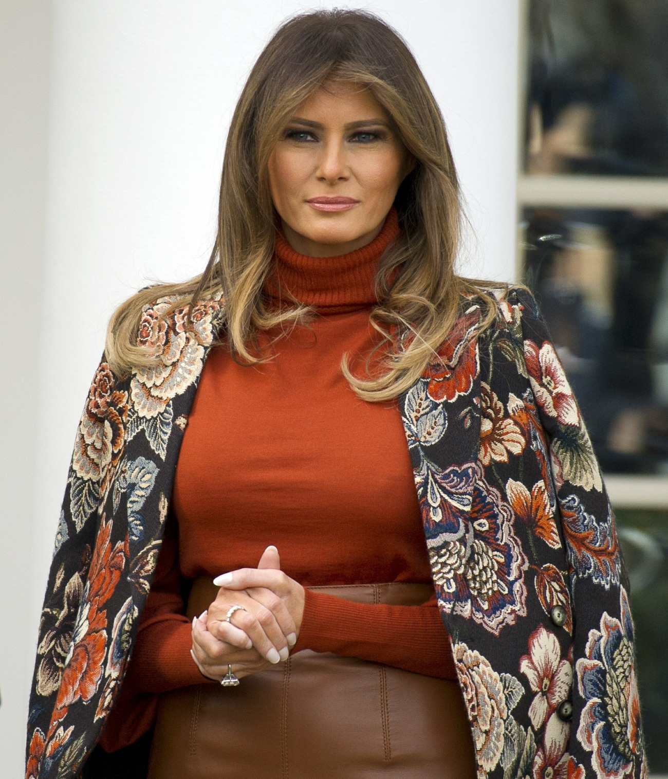 US President Trump and First Lady Melania Trump Participate in the 2017 Thanksgiving Turkey Pardon Ceremony