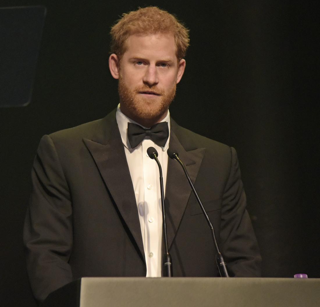 Prince Harry at The Attitude Awards 2017